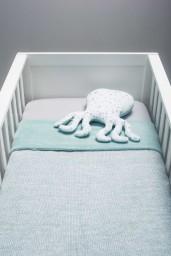Jollein - Knuffelkussen octopus Tiny waffle soft green