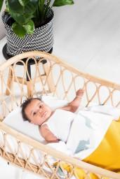 Jollein - deken basic knit ocher 75x100cm