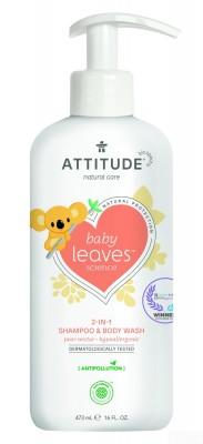Attitude - Baby leaves 2in1 shampoo & body wash Pear nectar 473 ml