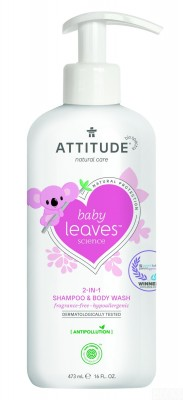 Attitude - Baby leaves 2in1 shampoo & body wash geurvrij 473 ml