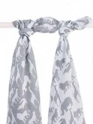 Jollein - Hydrofiel multidoek 115x115cm Safari stone grey