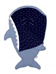 Baby Bites - slaapzak/voetenzak haai slate blue