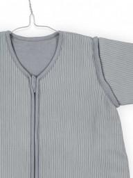 Jollein - slaapzak 4 seizoenen Rib stone grey - 90 cm