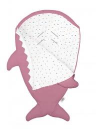 Baby Bites - Slaapzak/voetenzak haai pink