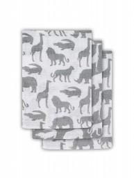 Jollein - Hydrofiel washandje Safari stone grey ( 3 pack )