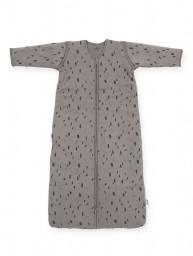 Jollein - slaapzak met afritsbare mouw - spot storm grey - 90cm