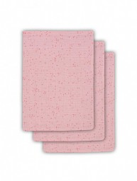 Jollein - Hydrofiel washandje Mini dots blush pink ( 3 pack )