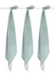 Jollein - hydrofiel multidoek small snake ash green - 70x70 cm (3 pack)