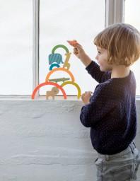 Petit Collage - Stapeltoren regenboog