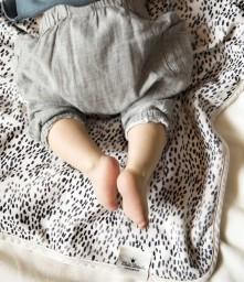 Elodie Details - Pearl velvet deken dots of fauna