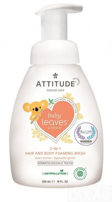Attitude - Baby leaves 2in1 shampoo & Body wash Pear nectar 295 ml