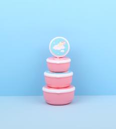 A Little Lovely Company - Snack box set van 4 - Eenhoorn