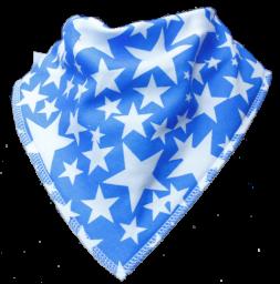 Bibble - Zeverslab blauw met witte sterren