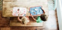 Jaq Jaq Bird - krijtboekje Doodle It & Go placemat - UNICORN