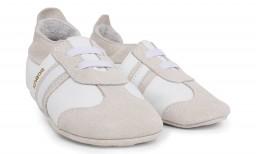Bobux - Soft soles white sport classic