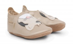 Bobux - Soft soles gold leopard