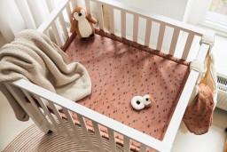 Jollein - deken teddy bliss knit nougat - 100x150 cm