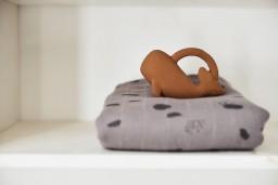 Jollein - Bijtring rubber Whale caramel
