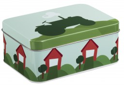 Blafre  - rectangular box tractor blue green
