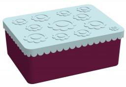 Blafre - lunchbox HDPE light blue/plum red