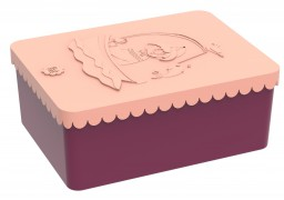 Blafre - lunchbox HDPE coast plum red/peach