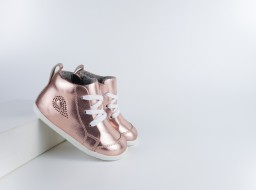 Bobux - step up - Alley-Oop Rose Gold Metallic