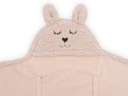 Jollein - Wikkeldeken Bunny pale pink