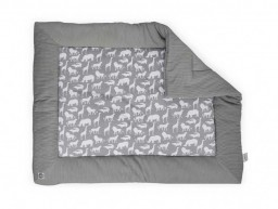 Jollein - Boxkleed Safari stone grey 80x100cm