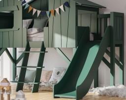 Mathy By Bols - Boomhut bed met glijbaan & platform