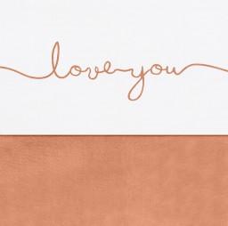 Jollein - Laken 120x150 cm Love you caramel