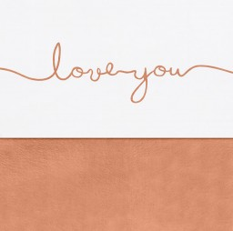 Jollein - Laken 75x100 cm Love you caramel
