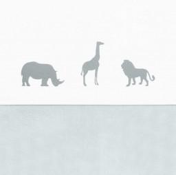 Jollein - laken Safari stone grey 120x150cm