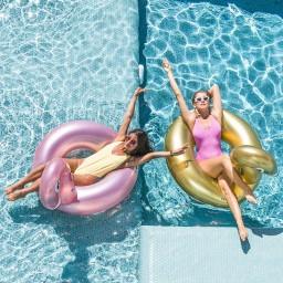 Swim essentials - zwemband groot gouden zwaan
