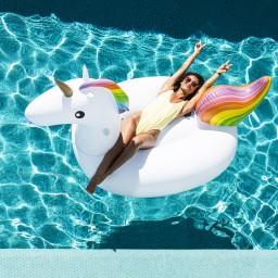 Swim essentials - luchtbed eenhoorn XL