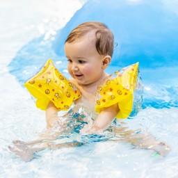 Swim Essentials - zwembandjes circus geel 0-2 jaar