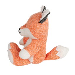 Flow - knuffel met hartslag Robin de vos oranje