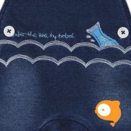 Boboli - Jeans salopetje donkerblauw visje