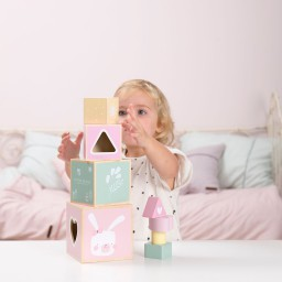 Little Dutch - Stapelblokken hout - adventure pink