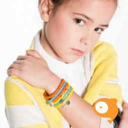 Mie Toe - Dochter armbandje bow orange