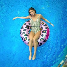 Swim essentials - zwemband groot panter