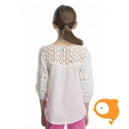 Rosalita señoritas - Deerhound blouse met details in kant wit