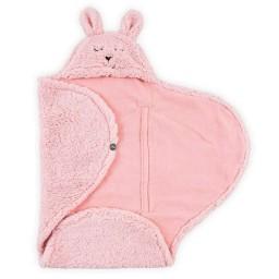 Jollein - wikkeldeken bunny storm pink