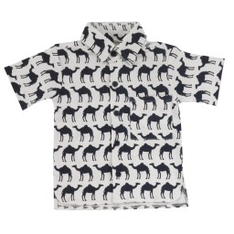pigeon - hemd print kameel