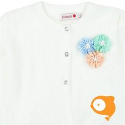 Boboli - Gebreide cardigan met bloemetjes