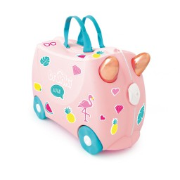 Trunki - Kinderkoffer ride-on Flamingo Flossie