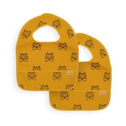 Jollein - slab waterproof Tiger mustard (2 stuks)