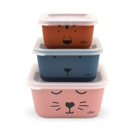 jollein - snackbox bamboe Animal club 3 stuks