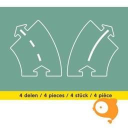 Waytoplay - Bochten uitbreidingsset 4-delig