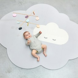 Quut - Speelmat Head in the clouds - Large Pearl Grey