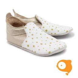 Bobux - Soft soles zwart/witte vegen loafer